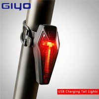 Vente en gros GIYO USB Rechargeable Bicycle Tail LightMountain Bike Lights d'avertissement LED Seatpost Back Rear Light Cycling Bicycle Accessories