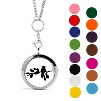 Wholesale Locket Necklace Set - Moly Jewelry Aromatherapy Essential Oil Diffuser Necklace With 316L Stainless Steel Pendant Jewelry Gift Set for Women