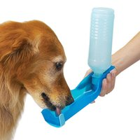 250ml Pet Dog Cat Alimentation d'eau Boisson Distributeur de bouteille Travel Portable Pliable Alimentation en plastique Bowl Travel Pet Water Bottle