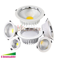 9W 12W 15W 20W 25W 30W Rond COB LED Plafonniers encastré Dimmable LED plafond Downlight AC 85-265V