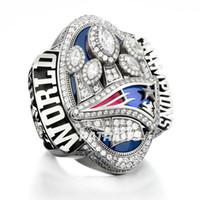 Wholesale England Souvenir - Free Shipping New Arrivals 2017 England 2016 Patriots Super Bowl Championship Ring souvenir Fan Men Gift wholesale TOM BRADY Drop Shipping