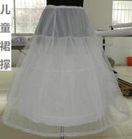 Wholesale Little Girls Petticoat Dress - Slip Flower Girl Skirt Little Girls' Petticoats for Kids Formal Dress Length 70 cm Children Underskirt Wear Accessory Light Weight 2 Hoop