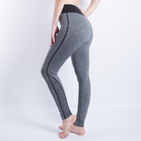 Wholesale Women Sexy Cropped Pants Elastic Wicking Force Exercise Female Elastic Fitness Exercise Activity Trousers Slim Leggings