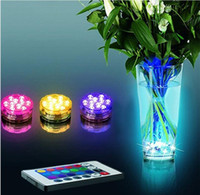 Controle Remoto 10 LED Multi Colors Submersível Waterproof Fish Tank Pond Swimming Pool Foundtain Decoração Light