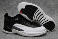 Wholesale Womens Athletic Shoes Cheap - cheap RETRO 12 XII Low Wolf Grey Playoff Basketball Shoes Retro 12s the master Sports Shoes Retro XII Master Men Sneakers womens Athletics