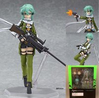 Wholesale Action Sword - Anime Sword Art Online 2 Figma 241 Sinon Asada Sao 2 PVC Action Figure Collection Model Toys Doll Brinquedos Free Shipping