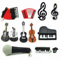 Wholesale Guitar Music Instrument - Cheap Bulk Gifts Music Instrument USB Pendrive Flash Drive 1GB 2GB 4GB 8GB 16GB 32GB USB Memory Stick Guitar Violin