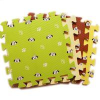 Wholesale Puzzle Pads Babies - 16pcs Foam Mat Cartoon Puppy Waterproof Bedroom Creeping Mat Kid Soft Foam Puzzle Mat Baby Game Pad 30x30cm