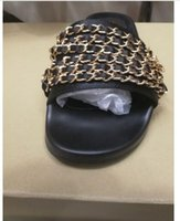 Wholesale women slipper metal chain sandal summer sexy womens sandals luxury slippers famous beach women shoes