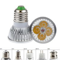 Wholesale Cheap Lights Bulbs - High power GU10 MR16 E27 E14 G5.3 12W CREE 4x3W Dimmable Led Light Lamp Spotlight led bulb 10pcs, cheap!!