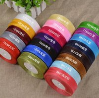 Wholesale Diy Handmade Packaging Materials - 2.5cm Width chiffon ribbons Sewing art handmade DIY materials supplies wedding cake decoration holiday gift packages JF-523