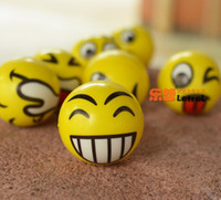 Wholesale squeezing balls free for sale - Emoji Faces Squeeze Stress Ball Hand Wrist Finger Exercise Stress Relief Therapy Assorted Styles New Christmas party gifts