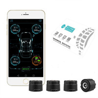 Wholesale Mobile Tire - Auto Car Bluetooth 4.0 TPMS Tire Pressure Monitoring System With 4 External Sensors Alarm Warning For Iphone IOS Android Mobile Phone APP