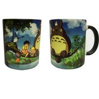 Wholesale Heat Sensitive Ceramic - OEM Cartoon Totoro Color Changing Change Porcelain Mug Heat Sensitive Mug Ceramic Cup For Coffee Tea Milk Holiday Gift Transhome