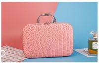 Wholesale Designer Toiletry Bag For Women - 2017 Korean style woman designer cosmetic bags and cases for bridesmaid makeup sorting bag wholesale travel toiletry bag Free shipping