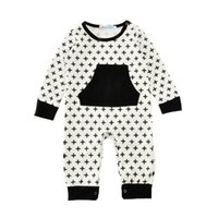 e5178172f97 Wholesale watermelon babies rompers for sale - Baby Rompers Black Crosses  Jumpsuits New Kids Clothing Sets