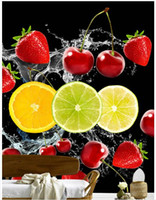 speed decor - 3D photo wallpaper custom d wall murals High speed water flower fruit cherry strawberry fruit entrance d living room wall decor