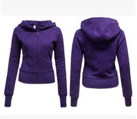 Wholesale Outdoor Yoga Clothing - 2017 Lulu solid fashion Shuihao hooded yoga fitness outdoor clothing lady hoodie yoga clothes sportswear jacket size 4-12 yards