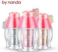 by nanda Evidenziatori Brighters Silky Soft Loose Powder Ombretto Cover Plate Face Vivid Makeup Silver Gold Colors