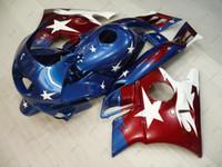 Wholesale star honda resale online - Full Body Kits CBR600 F2 Fairing Kits CBR600F2 Red Blue STAR Plastic Fairings for Honda Cbr600