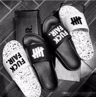 Wholesale Sandal Material - Hip-Hop Slippers Brand Original undefeated Slippers Lovers Indoor Home sandals Genuine Leather Upper material Non-Slip Soles
