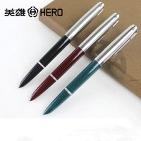 Wholesale Hero 616 Fountain Pen - Wholesale-3Pcs   Lot Plastic Hero Brand 616 Fountain Pen ink for Calligraphy Writing Office Supplies Stationery Wholesale
