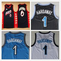 Wholesale Cheap Penny - Cheap Wholesale Stitched #1 Penny Hardaway Jersey Throwback Blue White Black Top Quality Men's Basketball Jerseys Free Shipping