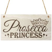 Wholesale Princess Sign - Special Wood Sign Plaque - Prosecco Princess 6 x 12 inches Chalkboard Wood Sign for Wall Decoration