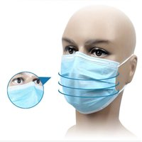 Wholesale Ear Loops Wholesale - 200pcs New Elastic Ear Loop Disposable Medical Dustproof Surgical Face Mouth Masks White Blue