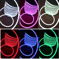 ingrosso segno di colore principale-10m RGB Neon Flex 14x26mm SMD5050 Flessibile LED Luci al Neon IP67 Outdoor Luci per feste DC24V Colore pieno modificabile Luci al Neon