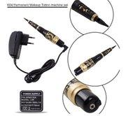 Wholesale Tattoo Pick Up - Free Shipping Permanent Makeup Eyebrow Tattoo Pen Machine Make Up Kit with 50 Needles 50 Tips EU or US Plugs U-Pick