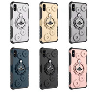 Wholesale Galaxy Note Gear - Shockproof Armor Case+Armband For Iphone X 8 7 Plus 6 6S ,Galaxy Note8 Note 8 Hard PC Wheel Gear Arm band Holder Hybrid TPU Kickstand Cover