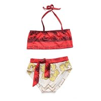 Wholesale Children Swim Wear - Moana Bikini Summer Swimsuit Swim Wear for Girls Moana Girl Casual Baby Clothing Children Beachwear Beach Swimmable Bodysuit 2pcs set