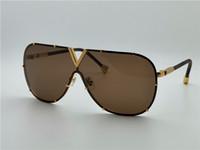 ingrosso best sell-Lo stile più venduto L0926 piloti telaio senza telaio gambe in pelle di alta qualità designer di marca occhiali da sole protezione anti-UV Drive occhiali da sole