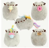 Cats/Mice/Dogs orange stuffed animal - 2016 Hot Sale style quot cm Pusheen Cookie Icecream Doughnut Rainbow cat Plush Doll Stuffed Animals Toys For Child Gifts