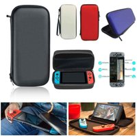 Wholesale Game Console Cases - 2017 Hot Travel Protective Pouch Bag For Nintendo Switch NS Vedeo game Console Shell Carrying Case with 3pcs Screen Protector