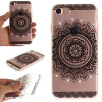 For LG sparkle phone cases - TPU IMD Luxury Sparkling Diamond Soft Mandala Flowers Phone Case for iPhone Plus Samsung Galaxy S8 Plus Case Ultrathin cover