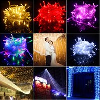 Wholesale Wholesale Decorative Outdoor String Lighting - Christmas Decorations LED String Lights Christmas Outdoor Waterproof Decorative Lights Pure Mixed Colors Available 5M 10M 20M 50M 100M