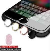 Wholesale Aluminum Home Sticker - Aluminum Metal Ring Touch ID Home Key Button Sticker Protector for iPhone 7 6S 6, 7 6S 6 Plus,SE 5S with Fingerprint Identification Function