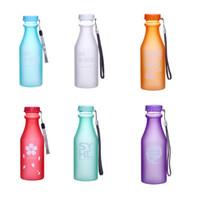 Wholesale Wholesale Clear Plastic Water Bottles - Wholesale- My 500ml Water Bottle Fashion Sport My Clear Plastic Bottle Juice Readily Space Cup Water Bottle BPA Free