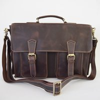 Herren Crazy Horse Leder Business Bag 15