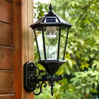ahorro de energa a prueba de agua led de iluminacin de pared al aire libre negro de bronce antiguo patio de lmpara montada en la pared