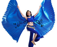 Wholesale Indian Hot Belly - Egypt Isis Belly DanceWings Dance Wing Hot New indian dance accessories for bellydance 1pc wing 10 colors