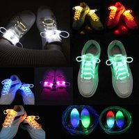 30pcs (15 paires) 2017 COOL Multicolors Light Up LED Shoelaces Nouvelle mode Chaussures Flash Laces Disco Party Glowing Night Shoes Strings u65