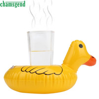 Plastic Bath Cognitive Floating Toy Wholesale- CHAMSGEND Bath Toy Cute Yellow Duck Floating Inflatable Drink Can Bath Toy Holder For Kids Children Drop Shipping Nov29