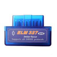 адаптер nissan obdii оптовых-Мини ELM327 Bluetooth OBD2 V1.5 Elm 327 V 1.5 OBD 2 автомобильный диагностический инструмент ELM-327 OBDII адаптер автоматический диагностический инструмент