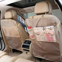 Wholesale Back Seat Covers For Cars - car seat covers protector mat Seat Back Protector Case Cover For Children Kick Mats Mud Clean High quality waterproof car Covers