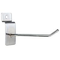 Wholesale Slatwall Hooks Wholesale - Wholesale- 25pcs Slatwall Single Hook Pin Arm Shop Display Fitting Prong Hanger