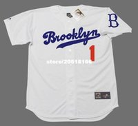 Wholesale Men Weeding - Cheap wholesale PEE WEE REESE Brooklyn Dodgers Majestic Cooperstown Home Baseball Jersey
