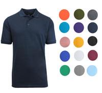 Wholesale Make Logo Shirt - Mens shirts Cotton Blend 3-Button Shirt cotton lapel short sleeves for men Custom Logo Making Comfortable Cotton Shirt